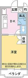 マンション明日香[2階]の間取り