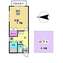 ハイツ・マユミ[101号室]の間取り