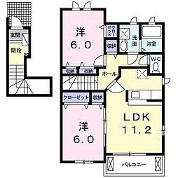セレーノII[2階]の間取り