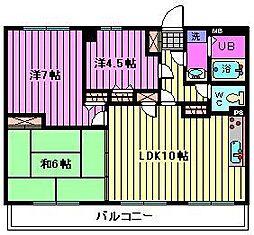 マルジューマンション[10階]の間取り