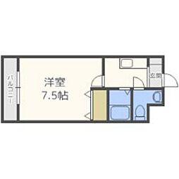 福岡県福岡市東区馬出2丁目の賃貸マンションの間取り