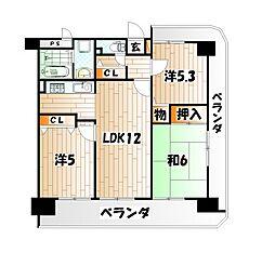 ビブレマンション赤坂[8階]の間取り