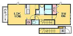 オレンジカウンティⅠ[2階]の間取り
