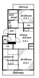 パル湯浅マンション[2階]の間取り