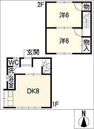 [タウンハウス] 愛知県西尾市中畑町小井戸 の賃貸【/】の間取り