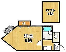 コンパートハウス唐人町[2階]の間取り