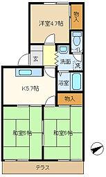 第5押田ハイツ 102[1階]の間取り
