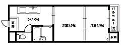 ハイクレスト橋本[2階]の間取り