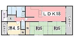 プレステージ姫路[501号室]の間取り