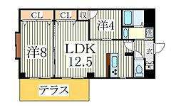 INSURANCE BLDG.VI[1階]の間取り
