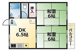 六甲司ハイツ[1階]の間取り
