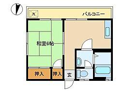東京都大田区池上5丁目の賃貸マンションの間取り