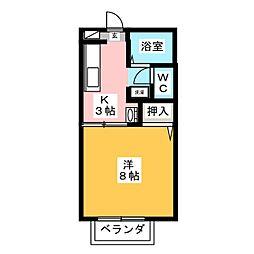エクセル栄[1階]の間取り