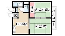 愛知県名古屋市守山区八反の賃貸アパートの間取り
