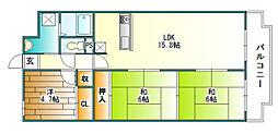 LiAnge北六甲[2階]の間取り