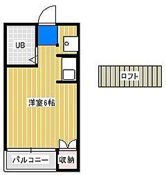 ジュネパレス松戸第707[2階]の間取り