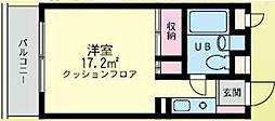 シティードームA棟[A308号室]の間取り