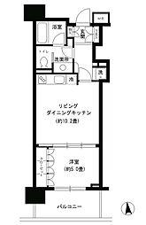東京都港区芝3丁目の賃貸マンションの間取り