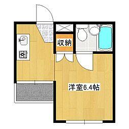 メロディハイム[1階]の間取り