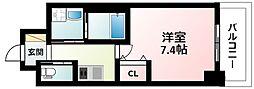 Osaka Metro御堂筋線 江坂駅 徒歩5分の賃貸マンション 9階1Kの間取り
