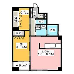 フローラル小桜[4階]の間取り