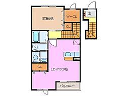 プリモ・アモーレ A・B棟[2階]の間取り