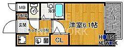 プレサンス京都四条烏丸[205号室号室]の間取り