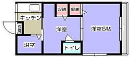 パールハイツ小川[2階]の間取り