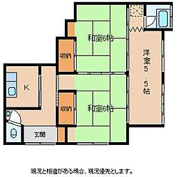 大盛アパート AB[1階]の間取り