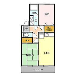 東京都青梅市新町3丁目の賃貸アパートの間取り