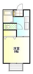 フローラルC棟[1階]の間取り