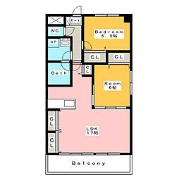 フローレンス三河安城[1階]の間取り