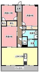 静岡県浜松市中区蜆塚4丁目の賃貸マンションの間取り