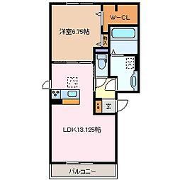 三重県四日市市滝川町の賃貸アパートの間取り