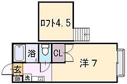レオパレスMITO[2階]の間取り