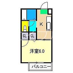 シャーメゾン和 B棟[1階]の間取り