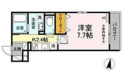 小田急小田原線 相武台前駅 徒歩6分の賃貸アパート 1階1Kの間取り