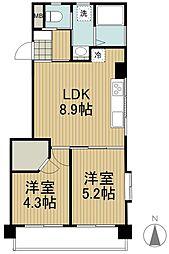 桜橋マンション[3階]の間取り