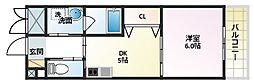 サンフレンドユーPartIIIマンション[4階]の間取り