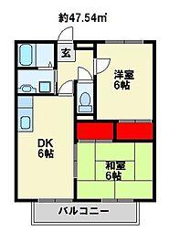 セントプチメゾン[1階]の間取り