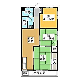メゾンスギエイ[3階]の間取り