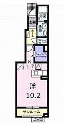 高松琴平電気鉄道長尾線 林道駅 徒歩8分の賃貸アパート 1階1Kの間取り