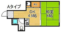 コスモ加賀屋[3階]の間取り