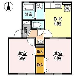 アヴァンティ浜田[A101 号室号室]の間取り