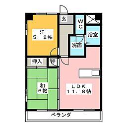 PLUS O2[8階]の間取り