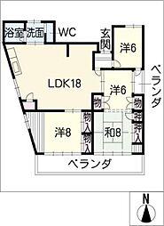 Lucie春日井[2階]の間取り