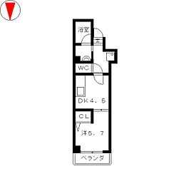 ワイズコート[5階]の間取り
