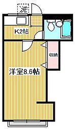 メゾンナカヅマ[203号室]の間取り