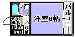 ユウパレス穴田[4-E号室]の間取り