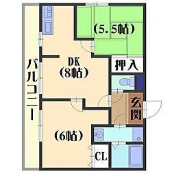 N.Great[3階]の間取り